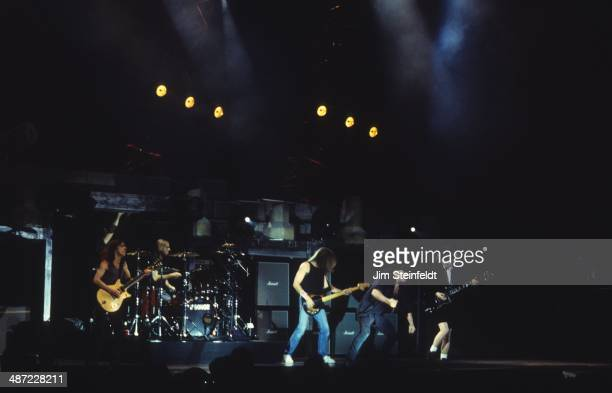 DC performs during the Ballbreaker tour at the Forum in Inglewood California on February 21 1996