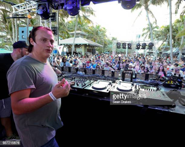 EDX performs during the Chuckie Friends Party hosted by 935FM Revolution Radio Miami as part of Miami Music Week at the National Hotel on South Beach...