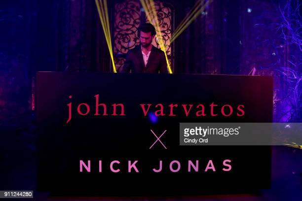 DJ performs during the John Varvatos X Nick Jonas SS18 Collaboration Launch Party on January 27 2018 in New York City