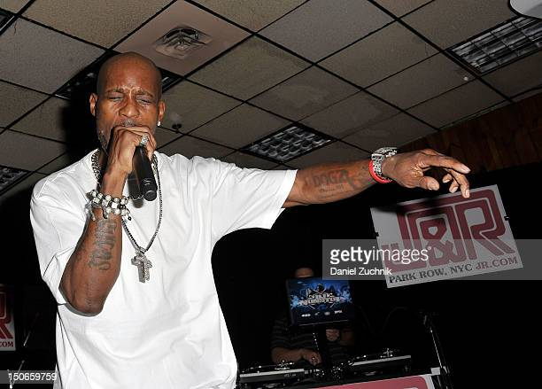 DMX performs during the JR Music Fest 2012 at JR Music and Computer World on August 23 2012 in New York City