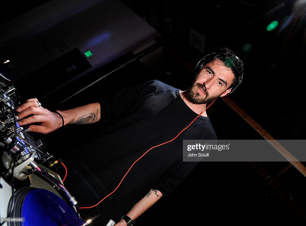 DJ YNOT performs during the Lyft driver rally at Siren Studios on January 27, 2015 in Hollywood, California.