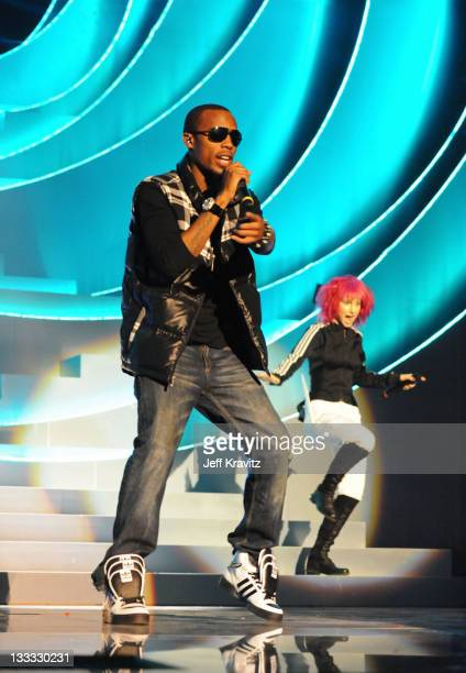 BOB performs during the MTV Europe Music Awards 2010 live show at La Caja Magica on November 7 2010 in Madrid Spain