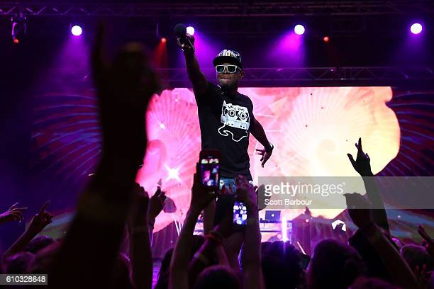 OMI performs during the Nickelodeon Slimefest 2016 evening show at Margaret Court Arena on September 25 2016 in Melbourne Australia