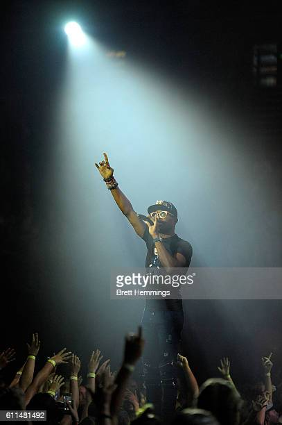 OMI performs during the Nickelodeon Slimefest 2016 matinee show at Sydney Olympic Park Sports Centre on September 30 2016 in Sydney Australia