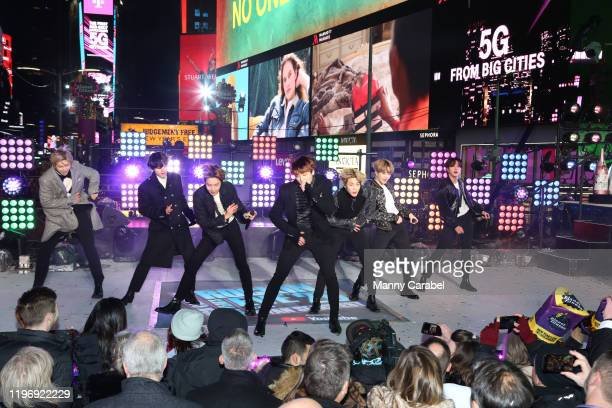 Performs during the Times Square New Year's Eve 2020 Celebration on December 31, 2019 in New York City.