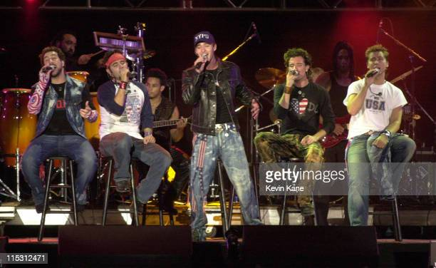 *NSYNC performs during United We Stand Concert Show at RFK Stadium in Washington DC United States