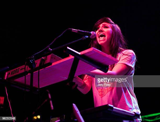 LIGHTS performs in a sold out concert at the Lifestyle Communities Pavilion on January 28 2010 in Columbus Ohio