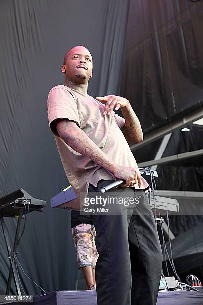 YG performs in concert at the Austin360 Amphitheater on August 22 2015 in Austin Texas