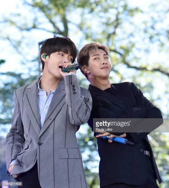 BTS performs live from Central Park to kick off the GMA Summer Concert Series on Good Morning America Wednesday May 15 airing on the Walt Disney...
