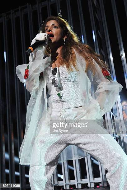 A performs live on stage during the closing night of the Meltdown festival at The Royal Festival Hall on June 18 2017 in London England Mathangi...