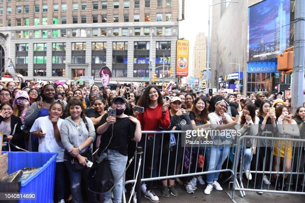 AMERICA BTS performs live today Wednesday 9/26/18 from Times Square Studios on Walt Disney Television via Getty Images's Good Morning America Good...