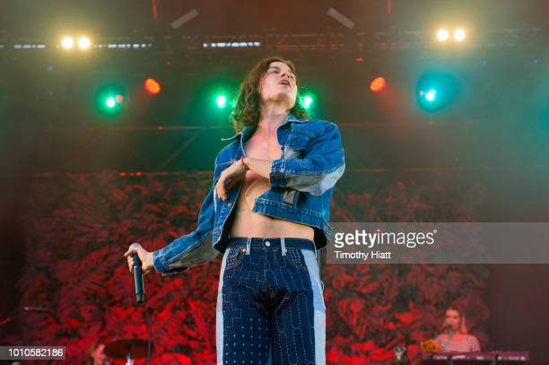 BORNS performs on day two of Lollapalooza at Grant Park on August 3 2018 in Chicago Illinois