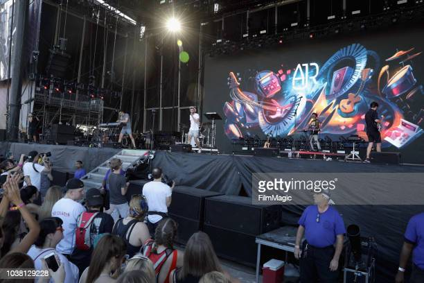 AJR performs on Downtown Stage during the 2018 Life Is Beautiful Festival on September 22 2018 in Las Vegas Nevada
