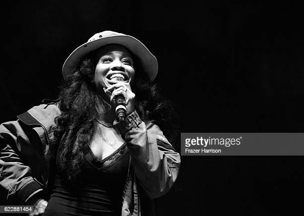 SZA performs on Flog Stage during day one of Tyler the Creator's 5th Annual Camp Flog Gnaw Carnival at Exposition Park on November 12 2016 in Los...