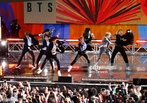 BTS performs on Good Morning America on May 15 2019 in New York City