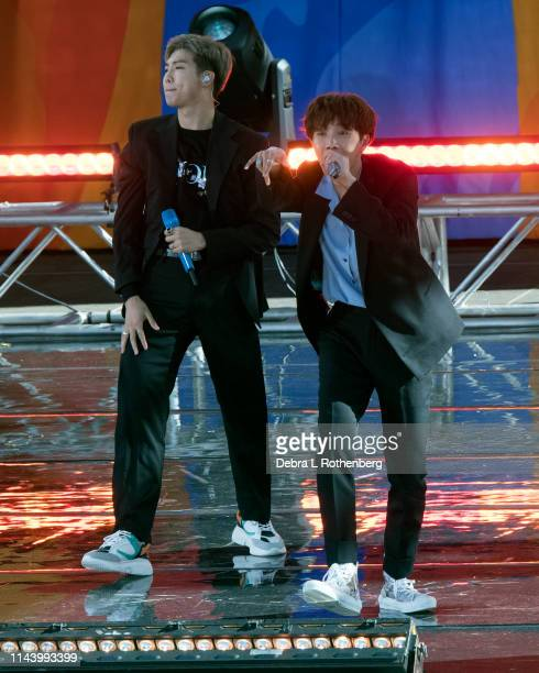 BTS performs on Good Morning America's Summer Concert Series from Rumsey Playfield in Central Park on May 15 2019 in New York City