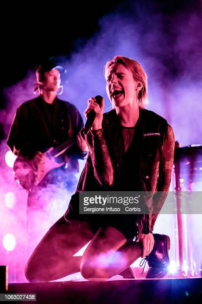 MØ performs on stage at Fabrique Club on November 17 2018 in Milan Italy