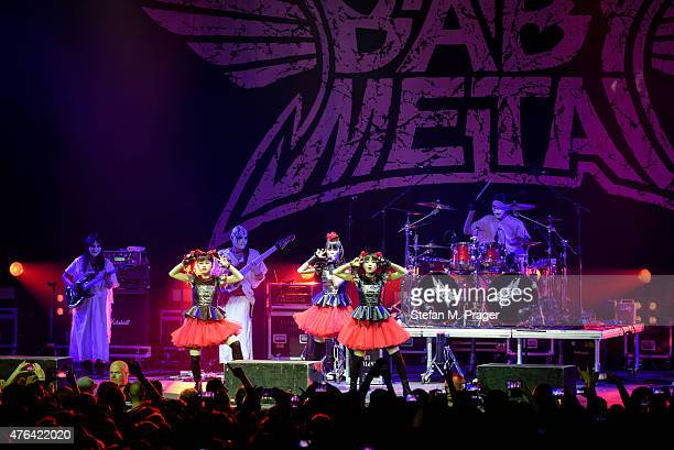 BABYMETAL performs on stage at Olympiapark on May 29 2015 in Munich Germany