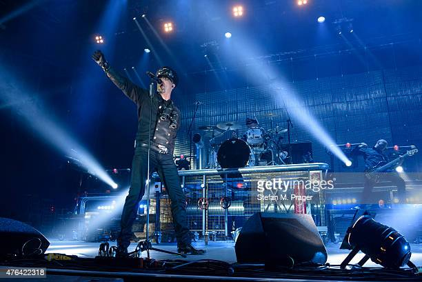 EISBRECHER performs on stage at Olympiapark on May 29 2015 in Munich Germany