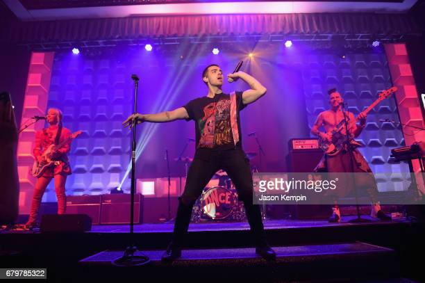 DNCE performs on stage at the 28th Annual GLAAD Media Awards at The Hilton Midtown on May 6 2017 in New York City