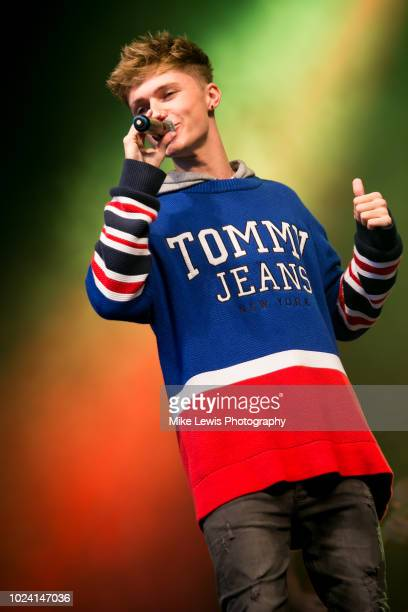 HRVY performs on stage at the Bristol Skyline Series on August 26 2018 in Bristol England