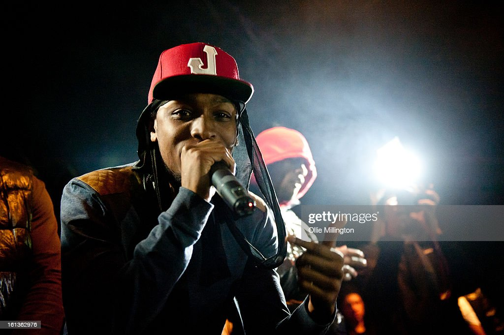 JME performs on stage at 'The Eskimo Dance' at 02 Academy on February 9, 2013 in Leicester, England.