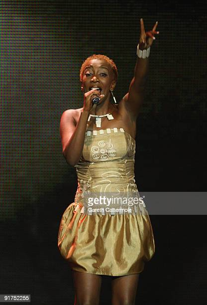 WAHU performs on stage at the MTV Africa Music Awards with Zain at the Moi International Sports Centre on October 10 2009 in Nairobi Kenya