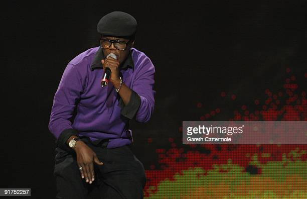 Y performs on stage at the MTV Africa Music Awards with Zain at the Moi International Sports Centre on October 10 2009 in Nairobi Kenya