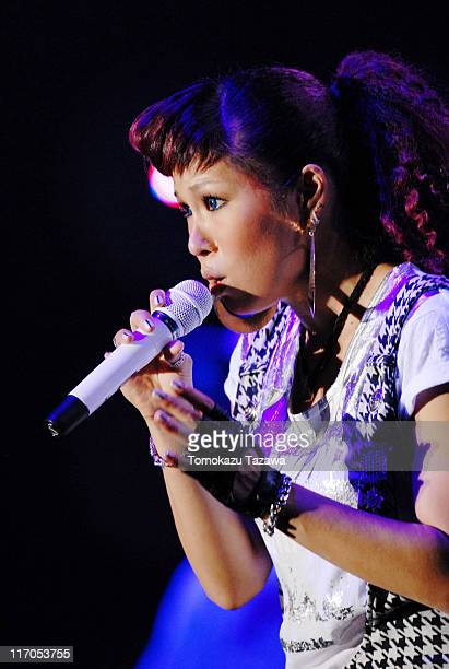 Performs on stage at the Tokyo leg of the Live Earth series of concerts, at Makuhari Messe, Chiba on July 7, 2007 in Tokyo, Japan.