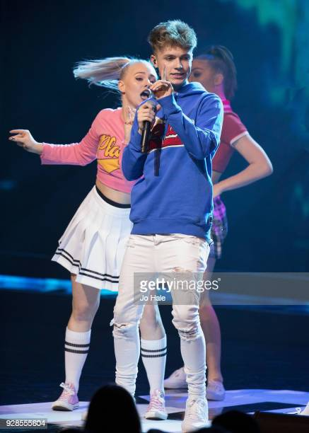 HRVY performs on stage at We Day UK at Wembley Arena on March 7 2018 in London England
