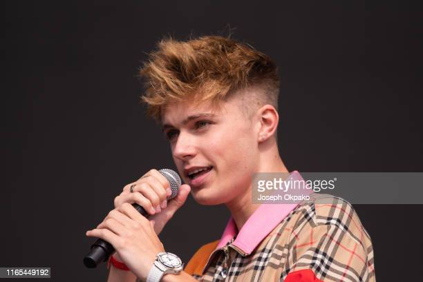 HRVY performs on stage during day 3 of Fusion Festival 2019 on September 01 2019 in Liverpool England