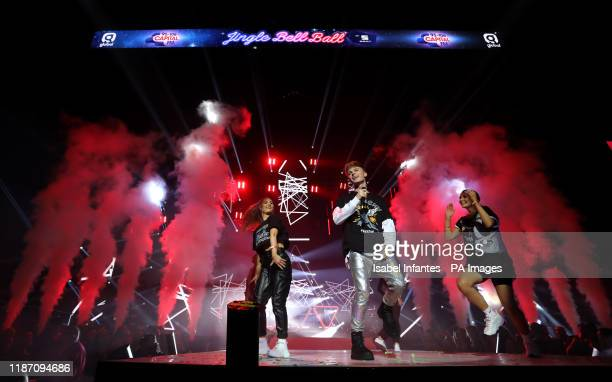 HRVY performs on stage during day one of Capital's Jingle Bell Ball with Seat at London's O2 Arena