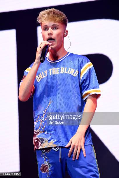 HRVY performs on stage during Free Radio Hits Live at Arena Birmingham on May 04 2019 in Birmingham England