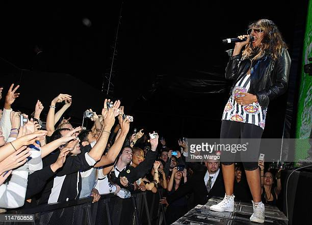 MIA performs on stage during the Diesel xXx Rock Roll Circus at Pier 3 on October 11 2008 in Brooklyn New York