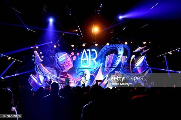 AJR performs on stage during the KROQ Absolut Almost Acoustic Christmas at The Forum on December 8 2018 in Inglewood California