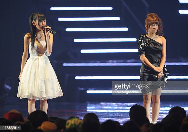 Performs on stage during the MTV Video Music Aid Japan at Makuhari Messe on June 25, 2011 in Chiba, Japan.