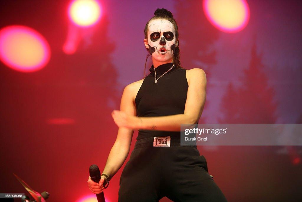 MO performs on stage for Pitchfork Music Festival at Grande Halle de La Villette on October 31, 2014 in Paris, France.