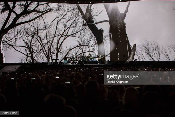 U2 performs on stage on the final night of U2 The Joshua Tree Tour 2017 at SDCCU Stadium on September 22 2017 in San Diego California