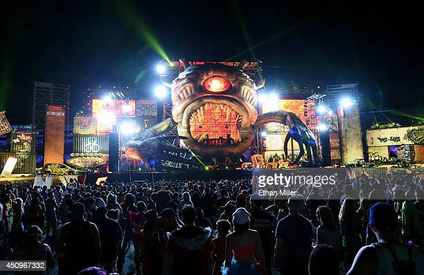 TNZ performs on the bassCON stage during the 18th annual Electric Daisy Carnival at Las Vegas Motor Speedway on June 20 2014 in Las Vegas Nevada