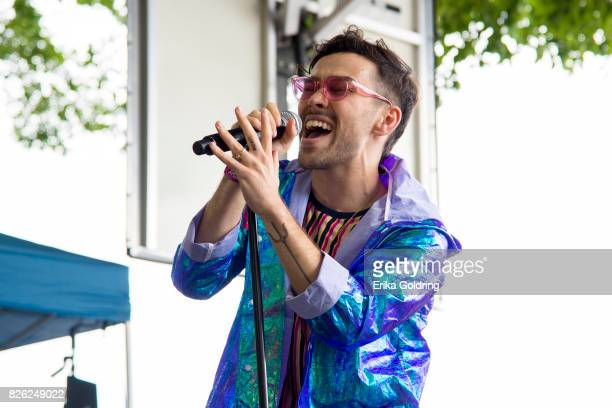 MAX performs on the BMI Stage during Lollapalooza at Grant Park on August 3 2017 in Chicago Illinois