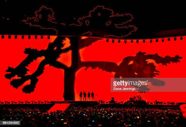 U2 performs on The Joshua Tree Tour at Levi's Stadium on May 17 2017 in Santa Clara California
