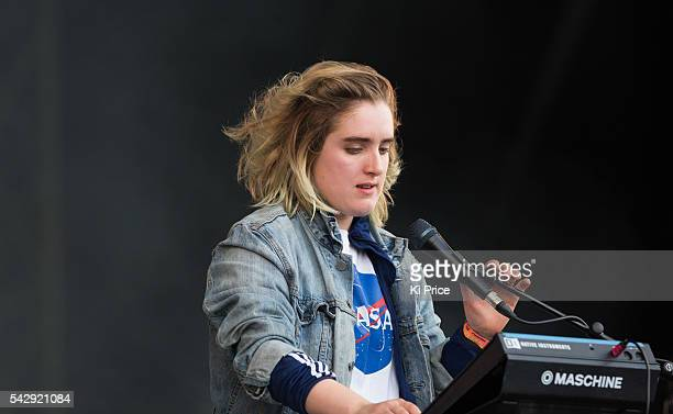 SHURA performs on The Other stage on Day 2 of the Glastonbury Festival 2016 at Worthy Farm Pilton on Saturday June 25 2016 in Glastonbury England