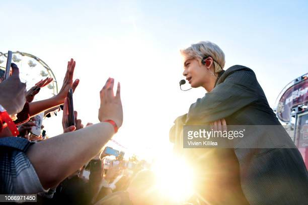 X performs onstage at 1027 KIIS FM's Jingle Ball PreShow Village at KIIS FM's Jingle Ball 2018 Presented by Capital One at The Forum on November 30...