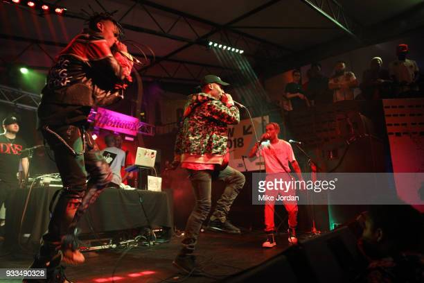 PNTHN performs onstage at Beer n Tacos during SXSW at Mowhawk on March 17 2018 in Austin Texas