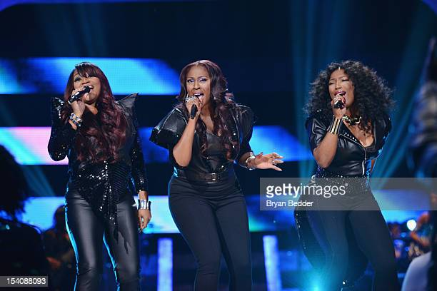 SWV performs onstage at BET's Black Girls Rock 2012 at Paradise Theater on October 13 2012 in New York City
