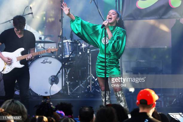 ABIR performs onstage at Bustle's 2019 Rule Breakers Festival at LeFrak Center at Lakeside on September 21 2019 in Brooklyn New York
