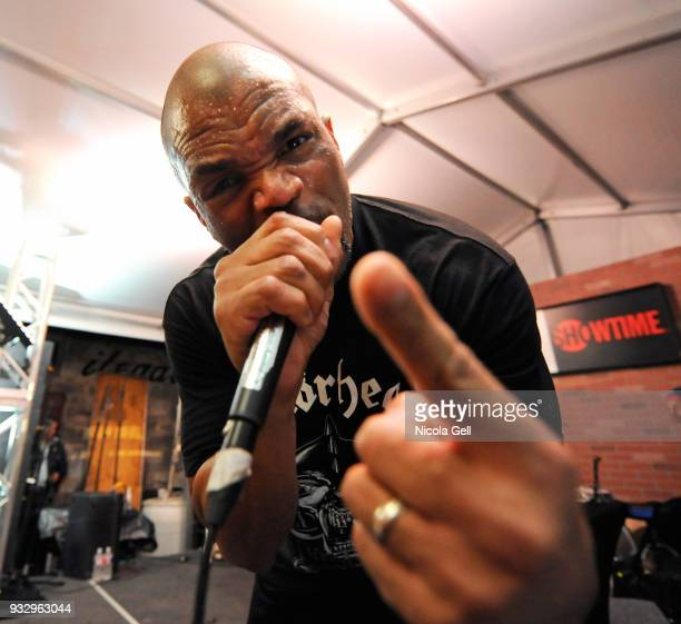 DMC performs onstage at Showtime during SXSW at Clive Bar on March 16 2018 in Austin Texas