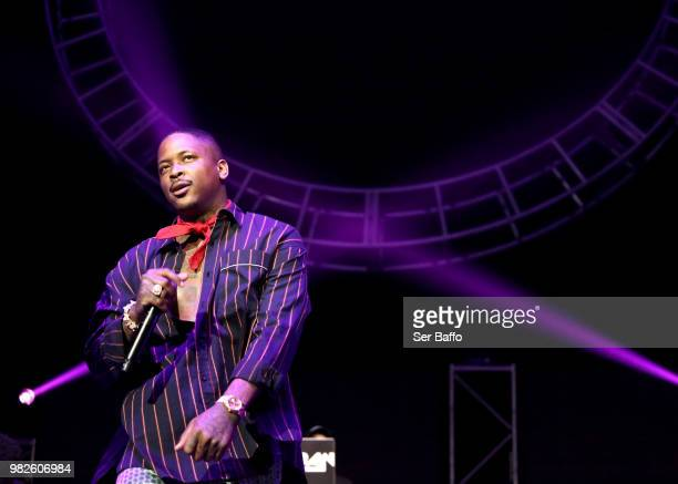 YG performs onstage at the STAPLES Center Concert Sponsored by SPRITE during the 2018 BET Experience on June 23 2018 in Los Angeles California