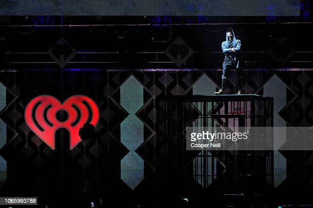 NF performs onstage during 1061 KISS FM's Jingle Ball 2018 at American Airlines Center on November 27 2018 in Dallas Texas