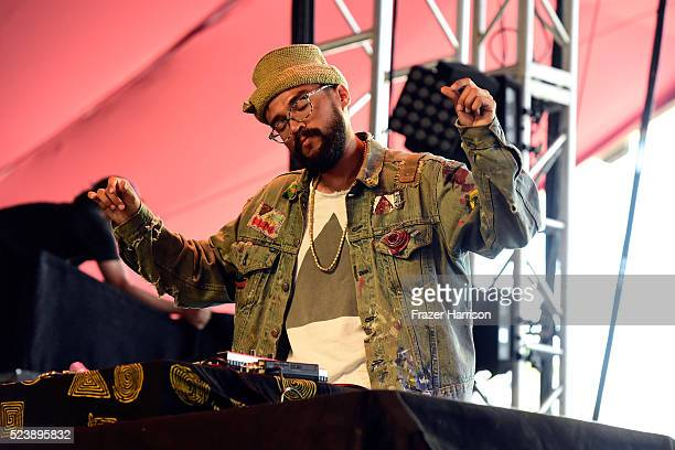 AFTA1 performs onstage during day 3 of the 2016 Coachella Valley Music Arts Festival Weekend 2 at the Empire Polo Club on April 24 2016 in Indio...